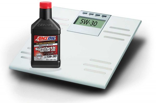Amsoil signature series oil weight scale