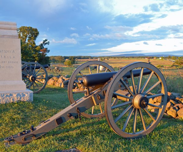 old canon at gettysberg